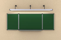 La ejecución del consejo escolar en la pared iluminó illustratio de la lámpara 3d libre illustration