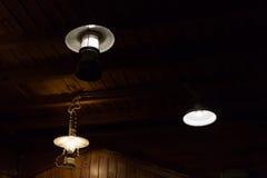 La ejecución ligera de la electricidad de la lámpara adorna el diseño interior casero Imagen de archivo libre de regalías