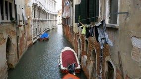 La ejecución viste en la calle lavado después en Venecia, Italia metrajes
