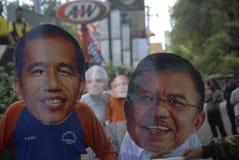 LA ELECCIÓN PRESIDENCIAL MÁS APRETADA DE INDONESIA Imágenes de archivo libres de regalías