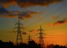 La electricidad es vida imagen de archivo libre de regalías