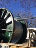 la electricidad telegrafía los rollos foto de archivo libre de regalías