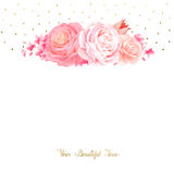 La elegancia florece el ramo de rosas y de tulipán del color Composición con las flores del flor stock de ilustración