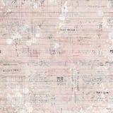La elegancia lamentable de la escritura antigua rosada del vintage apenó el fondo sucio Fotografía de archivo libre de regalías