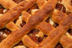La empanada con las peras escarchadas Imagen de archivo libre de regalías