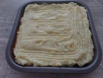 La empanada del pastor reci?n preparado antes de cocinar fotografía de archivo