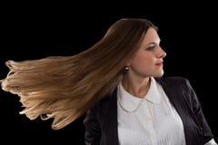 La empresaria con hermoso oye Imagen de archivo