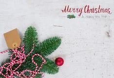 La endecha del plano de la Navidad diseñó escena Fotografía de archivo