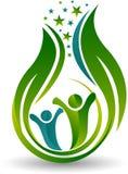 La energía bebe el logotipo stock de ilustración