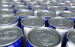 La energía bebe las latas Fotografía de archivo