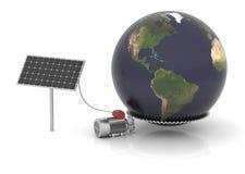 La energía solar puede mover el mundo Imágenes de archivo libres de regalías