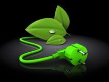 La energía verde enchufa 3d Fotos de archivo