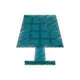 La energía de dibujo del panel solar ecológica limpia Imagen de archivo libre de regalías