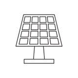 La energía del panel solar de Pictograh ecológica limpia Imagen de archivo
