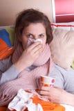 La enfermedad me golpeó Foto de archivo