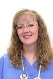 La enfermera adentro friega Imagen de archivo