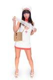 La enfermera con reflexiona sobre Imagen de archivo