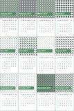 La ensalada de fruta y la perla negra colorearon el calendario geométrico 2016 de los modelos Ilustración del Vector
