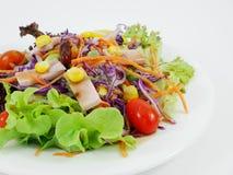 La ensalada de la verdura y del jamón Imagenes de archivo