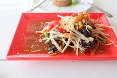 La ensalada o Somtum de la papaya tailandés es comida popular Fotos de archivo libres de regalías