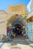 La entrada al mercado imagen de archivo