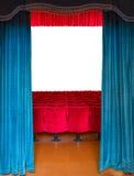 La entrada al teatro Imagen de archivo