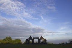 La entrada al templo de Ratu Boko en Java Imagenes de archivo
