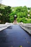 La entrada de la puerta con la escalera del naga para caminar de la gente va al prayi Foto de archivo libre de regalías
