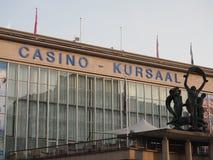 La entrada del casino Kursaal, uno de los casinos más grandes de Europa fotografía de archivo