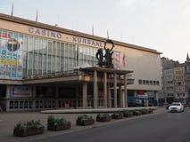 La entrada del casino Kursaal, uno de los casinos más grandes de Europa imagenes de archivo