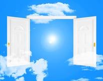 La entrada del cielo muestra puertas y eternidad de las entradas Imagen de archivo libre de regalías