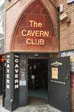 La entrada del club de la caverna Imagen de archivo libre de regalías