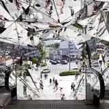La entrada del edificio de plaza, plaza Omohara de Tokyu es grandes almacenes del parque temático de la moda para la moda más de  Imagen de archivo libre de regalías