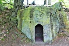 La entrada a la ermita, Sneaton, York del norte amarra, Inglaterra fotografía de archivo libre de regalías