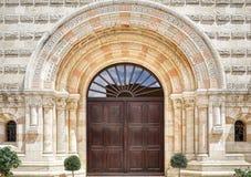 La entrada a la abadía en Jerusalén Foto de archivo libre de regalías