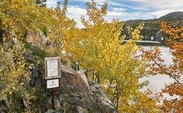La entrada a la reserva de naturaleza noruega Fotografía de archivo libre de regalías