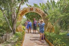 La entrada a Lagoa hace Paraiso Jericoacoara el Brasil Imágenes de archivo libres de regalías