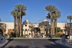 La entrada principal al hotel real de Gran en Sharm el Sheikh adentro Imágenes de archivo libres de regalías
