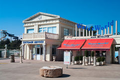 La entrada principal al Waterworld en Chipre Fotos de archivo