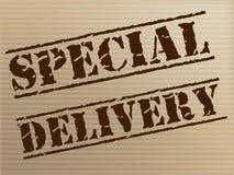 La entrega especial significa al mensajero notable And Unique Foto de archivo libre de regalías