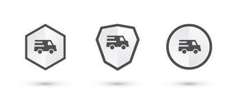 La entrega simple etiqueta el escudo Imagenes de archivo