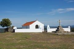 La ermita de Senhora das Neves (nuestra señora de Neves) en las afueras de Malpica hace Tejo, Castelo Branco, Beira Baixa, Portug imágenes de archivo libres de regalías