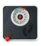 La escala con el corazón Foto de archivo