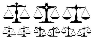 La escala de la justicia stock de ilustración