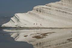 La escala de los turcos vira el empedocle hacia el lado de babor Agrigento Sicilia Italia Europa Fotografía de archivo