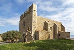 La escala sant marti of empuries. Church medieval village, la escala sant marti of empuries. Catalonia Spain Stock Photography