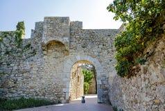 La escala sant marti of empuries. The medieval village, la escala sant marti of empuries. Catalonia Spain Stock Photos