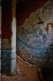 La escalera abandonada foto de archivo