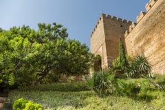 La escalera Alcazaba de la entrada Fotografía de archivo libre de regalías