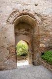 La escalera Alcazaba de la entrada Fotos de archivo